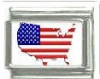 Italian Charms Modul - USA  Flagge  Kinderwagen